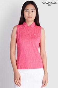 Розовая футболка-поло без рукавов Calvin Klein Golf Avon