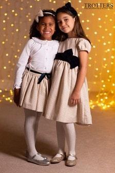 Robe de fête Trotters London Hetty dorée avecnœud