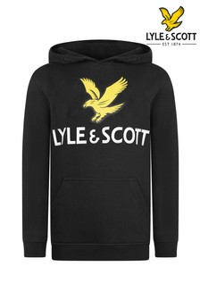Lyle & Scott Black Eagle Logo Hoody