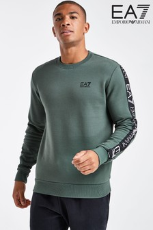 Zielona bluza dresowa Emporio Armani EA7 Tape