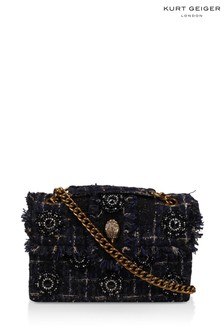 Kurt Geiger London Kensington X Stofftasche aus Tweed, Marineblau