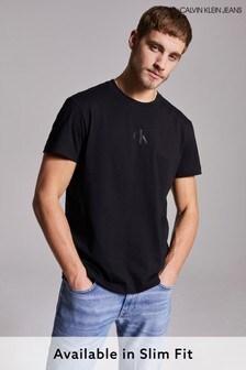 Calvin Klein Jeans Black CK Sliced Back Graphic T-Shirt