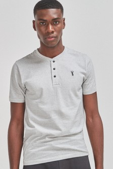 Slim Fit Grandad-T-Shirt