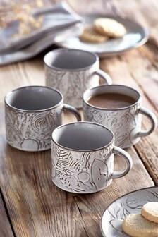 Set of 4 Oakley Mugs