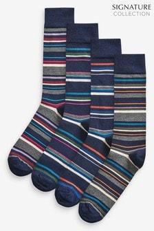 Signature襪子四雙裝