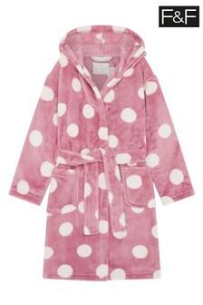 F&F Pink Spot Robe