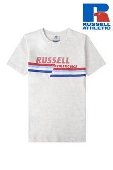 تي شيرتجرافيكمقسوم منRussell Athletics