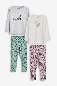 2 Pack Character Top And Leggings Set (3-16yrs)