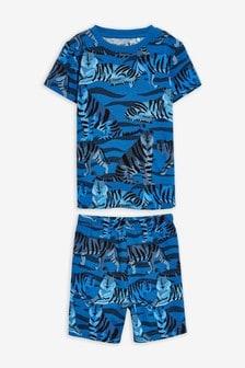 Пижама с шортами и тигровым принтом (9 мес. - 8 лет)