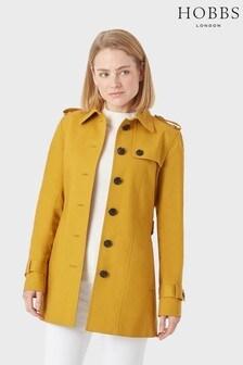 מעיל גשם מדגם Ella של Hobbs בצבע זהב