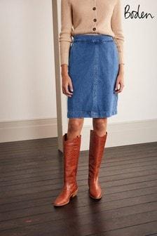 Boden Blue Beresford Mini Skirt