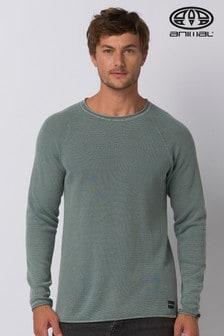 Animal Lead Grey Morris Knitted Jumper
