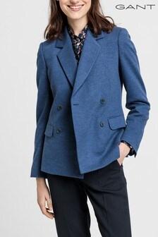 Sacou de damă GANT Colourful Fall albastru