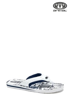 Animal White & Black Jekyl Logo Flip Flops