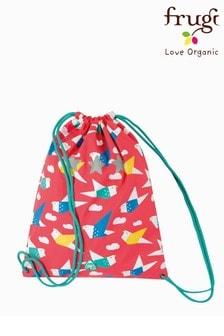 Спортивный мешок на шнурке с принтом птиц в стиле оригамиFrugi Recycled