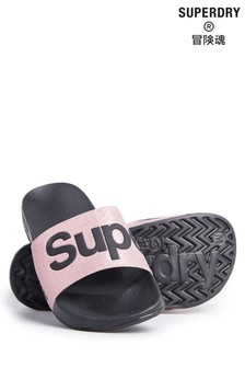 Superdry Pantolette, roségoldfarben
