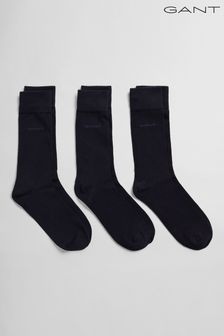 GANT藍色柔軟棉襪三雙裝