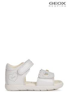 Белые сандалии для девочек Geox Alul