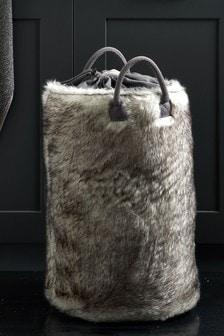 Cosy Faux Fur Storage Bag