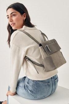 Маленький рюкзак с карманами на молнии