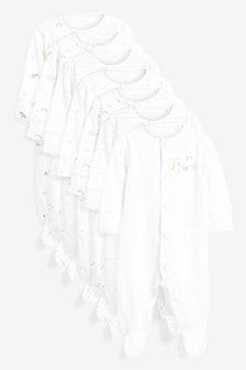 7 Pack Printed Sleepsuits (0-2yrs)