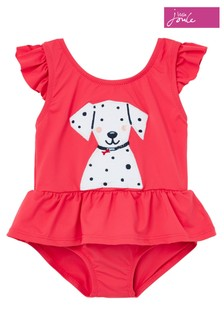 Joules Red Frillwell Swimming Costume