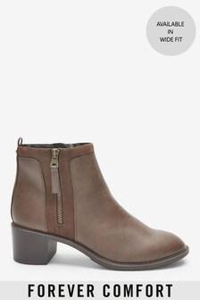 Forever Comfort®厚底高跟拉鏈靴
