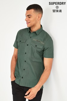 Superdry Khaki Short Sleeve Utility Shirt