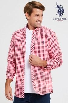 U.S. Polo Assn.格子棉布T恤