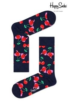 Happy Socks Mens Cherry Dog Socks