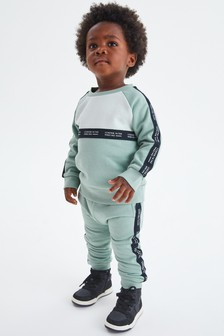 Taped Colourblock Crew And Joggers Set (3mths-7yrs)
