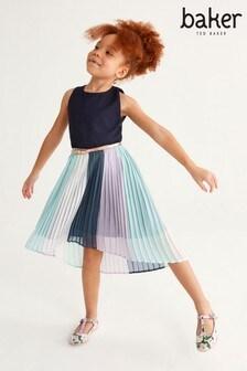 Baker by Ted Baker Girls Colourblock Pleated Dress