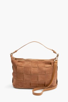 Leather Weave Detail Bag