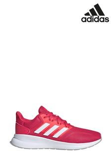 Розовые/белые кроссовки для бега adidas Falcon