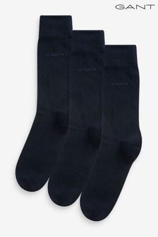 GANT黑色柔軟棉襪三對裝