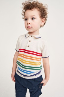 針織條紋Polo衫 (3個月至7歲)