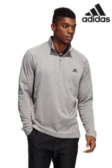 Sweat adidas Golf d'épaisseur moyenne à demi-patte zippée