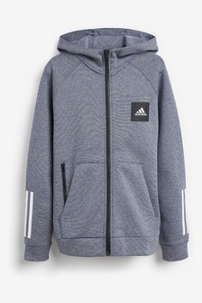 adidas Blue Must Have Zip Through Hoody