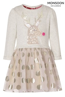 שמלת פוטר דיסקו עם אייל לחג המולד לתינוקות שלMonsoon