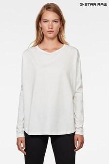 חולצת טי רפויה בצבע שמנתGSRAW שלG-Star