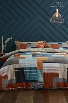 Horizon Geo Cotton Duvet Cover and Pillowcase Set
