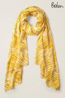 Eşarfă cu imprimeu Boden galbenă