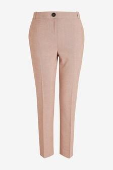 Sharkskin Tailored Slim Trousers
