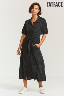 FatFace Riley Mini Spot Shirt Dress