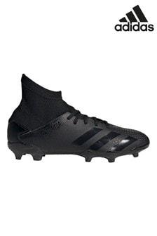 adidas Predator P.3 FG Fußballschuhe für Jugendliche und Kinder, Schwarz