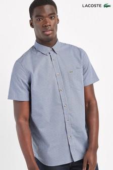 Lacoste® Short Sleeve Gingham Check Shirt