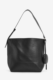 Structured Hobo Bag With Add On Purse