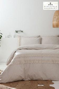Pineapple Elephant Stone Izmir Duvet Cover and Pillowcase Set