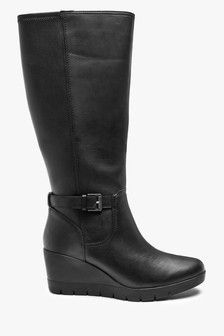 Clarks Black Leather Madera Hi 2 Boots