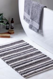 Stripe Bobble Bath Mat